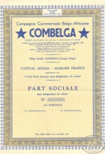 Combelga Companie Commerciale Belgo-AfricaineElectrotrust S.A. Пай, 1944 год.