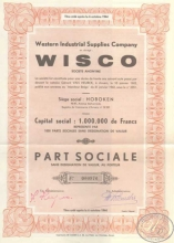 Wisco Western Industrial Supplies Co. Пай, 1944 год.
